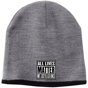 CustomCat Hats Athletic Oxford/Black / One Size All Lives Matter Not Just Black ones CP91 100% Acrylic Beanie (5 Variants)