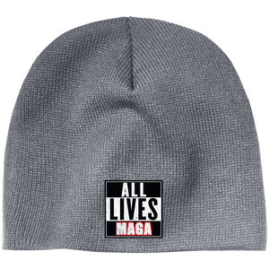 CustomCat Hats Athletic Oxford / One Size All Lives MAGA CP91 100% Acrylic Beanie (5 Variants)