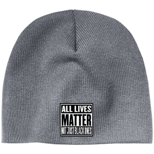 CustomCat Hats Athletic Oxford / One Size All Lives Matter Not Just Black ones CP91 100% Acrylic Beanie (5 Variants)