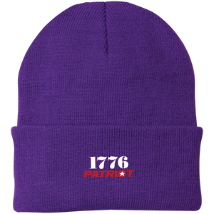 CustomCat Hats Athletic Purple / One Size 1776 Patriot CP90 Knit Cap (16 Variants)