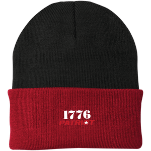 CustomCat Hats Athletic Red/Black / One Size 1776 Patriot CP90 Knit Cap (16 Variants)
