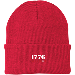 CustomCat Hats Athletic Red / One Size 1776 Patriot CP90 Knit Cap (16 Variants)