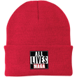 Load image into Gallery viewer, CustomCat Hats Athletic Red / One Size All Lives MAGA CP90 Knit Cap (16 Variants)