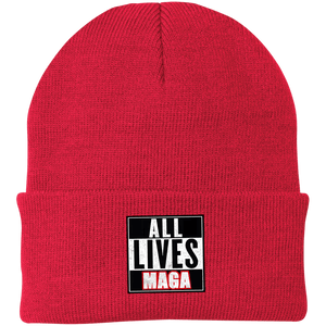 CustomCat Hats Athletic Red / One Size All Lives MAGA CP90 Knit Cap (16 Variants)