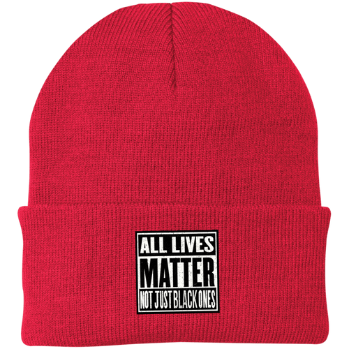 CustomCat Hats Athletic Red / One Size All Lives Matter Not Just Black Ones CP90 Knit Cap (16 Variants)