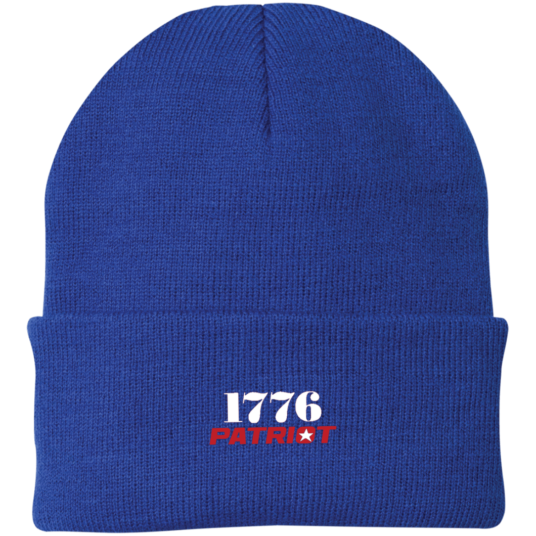 CustomCat Hats Athletic Royal / One Size 1776 Patriot CP90 Knit Cap (16 Variants)