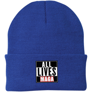 CustomCat Hats Athletic Royal / One Size All Lives MAGA CP90 Knit Cap (16 Variants)