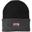 Load image into Gallery viewer, CustomCat Hats Black/Athletic Oxford / One Size 1776 Patriot CP90 Knit Cap (16 Variants)