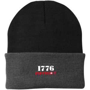 CustomCat Hats Black/Athletic Oxford / One Size 1776 Patriot CP90 Knit Cap (16 Variants)