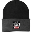 Load image into Gallery viewer, CustomCat Hats Black/Athletic Oxford / One Size All Lives MAGA CP90 Knit Cap (16 Variants)