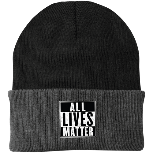 CustomCat Hats Black/Athletic Oxford / One Size All Lives Matter CP90 Knit Cap (16 Variants)