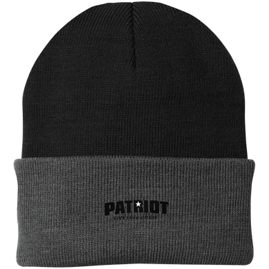 CustomCat Hats Black/Athletic Oxford / One Size Star Patriot Black Text Live Free or Die CP90 Knit Cap (13 Variants)