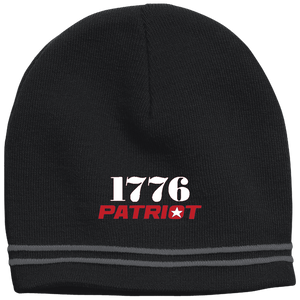 CustomCat Hats Black/Iron Grey / One Size 1776 Patriot Star Beanie (3 Variants)