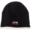 Load image into Gallery viewer, CustomCat Hats Black/Natural / One Size 1776 Patriot CP91 100% Acrylic Beanie (5 Variants)