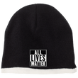 Load image into Gallery viewer, CustomCat Hats Black/Natural / One Size All Lives Matter CP91 100% Acrylic Beanie (5 Variants)