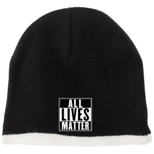 CustomCat Hats Black/Natural / One Size All Lives Matter CP91 100% Acrylic Beanie (5 Variants)