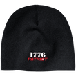 Load image into Gallery viewer, CustomCat Hats Black / One Size 1776 Patriot CP91 100% Acrylic Beanie (5 Variants)