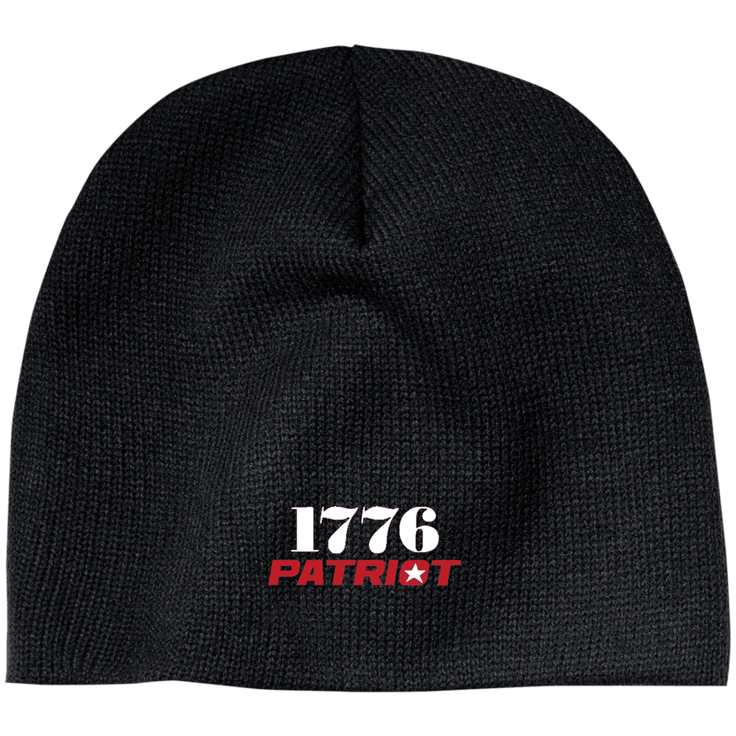 CustomCat Hats Black / One Size 1776 Patriot CP91 100% Acrylic Beanie (5 Variants)