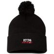 Load image into Gallery viewer, CustomCat Hats Black / One Size 1776 Patriot SP15 Pom Pom Knit Cap (12 Variants)