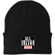 Load image into Gallery viewer, CustomCat Hats Black / One Size All Lives MAGA CP90 Knit Cap (16 Variants)