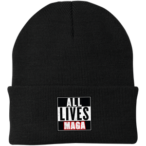 CustomCat Hats Black / One Size All Lives MAGA CP90 Knit Cap (16 Variants)