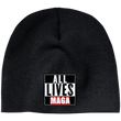 Load image into Gallery viewer, CustomCat Hats Black / One Size All Lives MAGA CP91 100% Acrylic Beanie (5 Variants)