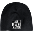 Load image into Gallery viewer, CustomCat Hats Black / One Size All Lives Matter CP91 100% Acrylic Beanie (5 Variants)