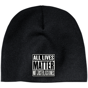 CustomCat Hats Black / One Size All Lives Matter Not Just Black ones CP91 100% Acrylic Beanie (5 Variants)