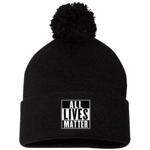 CustomCat Hats Black / One Size All Lives Matter SP15 Pom Pom Knit Cap (12 Variants)