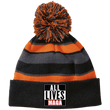 Load image into Gallery viewer, CustomCat Hats Black/Orange / One Size All Lives MAGA Striped Beanie with Pom (8 Variants)