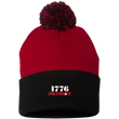 Load image into Gallery viewer, CustomCat Hats Black/Red / One Size 1776 Patriot SP15 Pom Pom Knit Cap (12 Variants)