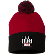 Load image into Gallery viewer, CustomCat Hats Black/Red / One Size All Lives MAGA SP15 Pom Pom Knit Cap (12 Variants)