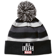 Load image into Gallery viewer, CustomCat Hats Black/White / One Size All Lives MAGA Striped Beanie with Pom (8 Variants)