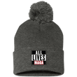 Load image into Gallery viewer, CustomCat Hats Dark Heather/ / One Size All Lives MAGA SP15 Pom Pom Knit Cap (12 Variants)