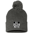 Load image into Gallery viewer, CustomCat Hats Dark Heather/ / One Size All Lives Matter SP15 Pom Pom Knit Cap (12 Variants)