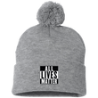 Load image into Gallery viewer, CustomCat Hats Heather Grey/ / One Size All Lives Matter SP15 Pom Pom Knit Cap (12 Variants)