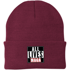 CustomCat Hats Maroon / One Size All Lives MAGA CP90 Knit Cap (16 Variants)