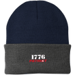 Load image into Gallery viewer, CustomCat Hats Navy/Athletic Oxford / One Size 1776 Patriot CP90 Knit Cap (16 Variants)