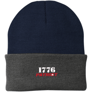 CustomCat Hats Navy/Athletic Oxford / One Size 1776 Patriot CP90 Knit Cap (16 Variants)