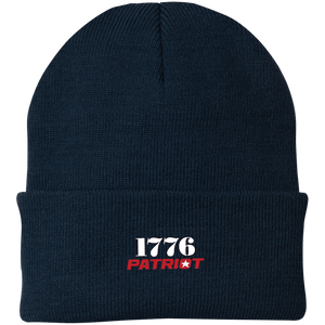 CustomCat Hats Navy / One Size 1776 Patriot CP90 Knit Cap (16 Variants)