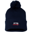 Load image into Gallery viewer, CustomCat Hats Navy/ / One Size 1776 Patriot SP15 Pom Pom Knit Cap (12 Variants)