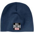 Load image into Gallery viewer, CustomCat Hats Navy / One Size All Lives MAGA CP91 100% Acrylic Beanie (5 Variants)