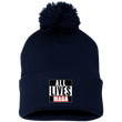 Load image into Gallery viewer, CustomCat Hats Navy/ / One Size All Lives MAGA SP15 Pom Pom Knit Cap (12 Variants)