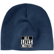 Load image into Gallery viewer, CustomCat Hats Navy / One Size All Lives Matter CP91 100% Acrylic Beanie (5 Variants)