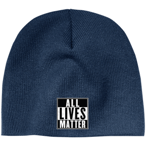 CustomCat Hats Navy / One Size All Lives Matter CP91 100% Acrylic Beanie (5 Variants)