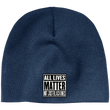 Load image into Gallery viewer, CustomCat Hats Navy / One Size All Lives Matter Not Just Black ones CP91 100% Acrylic Beanie (5 Variants)