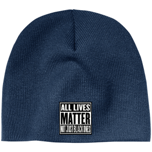 CustomCat Hats Navy / One Size All Lives Matter Not Just Black ones CP91 100% Acrylic Beanie (5 Variants)