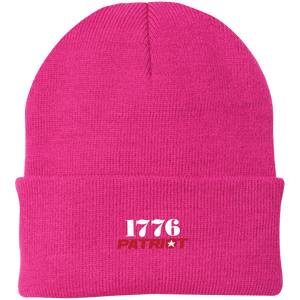 CustomCat Hats Neon Pink / One Size 1776 Patriot CP90 Knit Cap (16 Variants)