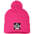 Load image into Gallery viewer, CustomCat Hats Neon Pink / One Size All Lives MAGA SP15 Pom Pom Knit Cap (12 Variants)