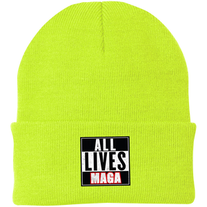 CustomCat Hats Neon Yellow / One Size All Lives MAGA CP90 Knit Cap (16 Variants)